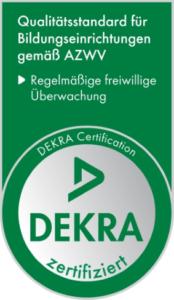 Logo der DEKRA AZWV-Zertfifizierung