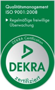 Logo der DEKRA ISO-Zertfifizierung